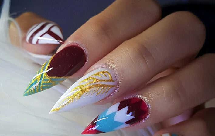 30+ cool and trendy stiletto nail art designs