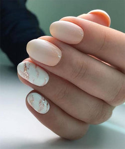 10+ Almond Marble Nails Ideas