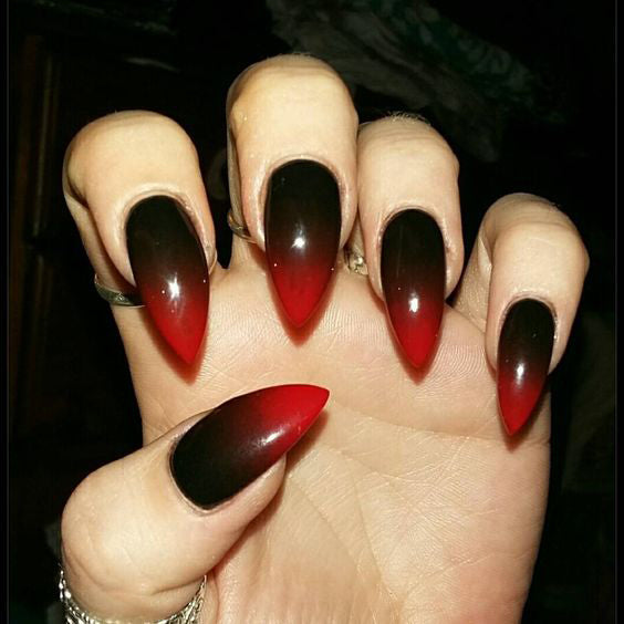 Best Black Stiletto Nails Designs For Your Halloween – OSTTY