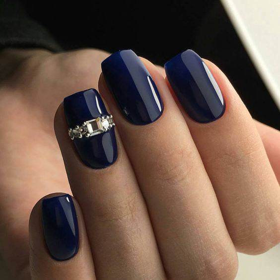 30+  Stunning Cobalt  Blue Nails For Elegant Ladies