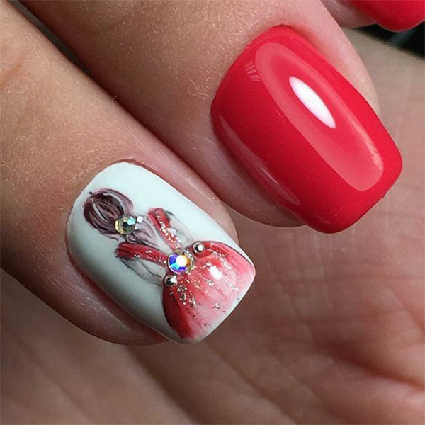 French Mani Dancer Nails Wedding Nails Elegant Nails
