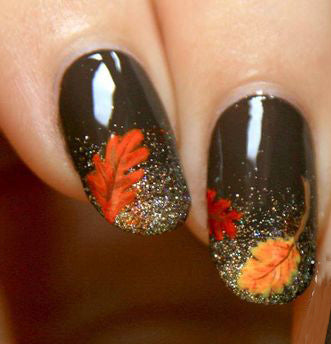35+ Leaf Nails Art Ideas for your Fall