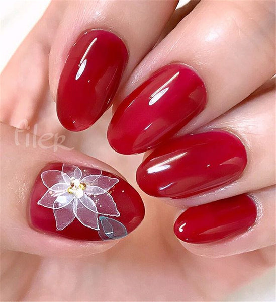 Creative Ideas for Red Acrylic Nails Designs