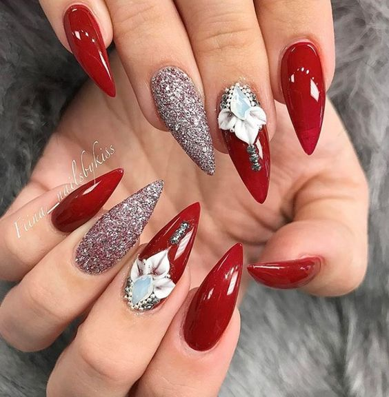 Nail Designs Coffin Red