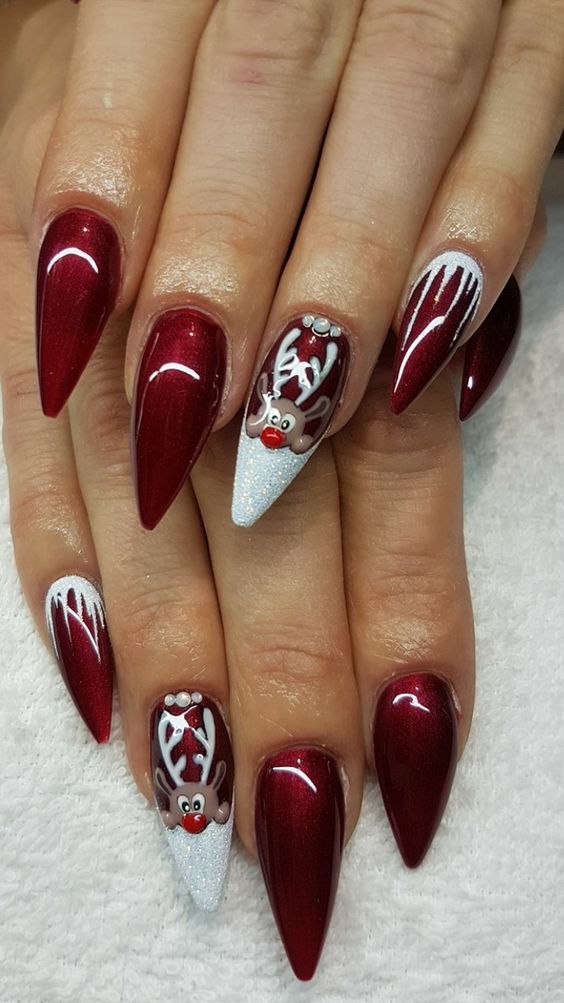55 Popular Ideas Of Christmas Nails Designs To Try In 2019 Ostty