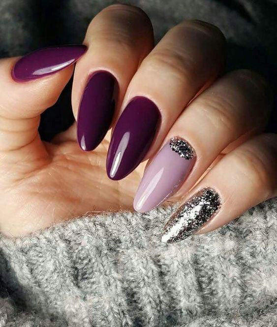 55+ Trendy Manicure Ideas In Fall Nail Colors;Purple Nails; Manicure; Fall Nails;Trendy nails; gel nails; nails shop