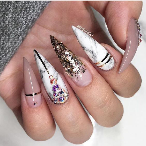 60 Best Stiletto Nails Designs Trendy For 2020 Sumcoco
