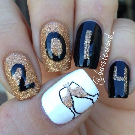 Bright Colors For New Year Nails 2019; New Year nails; cute New Year nails; New Year coffin nails; easy New Year nails; New Year nails designs;