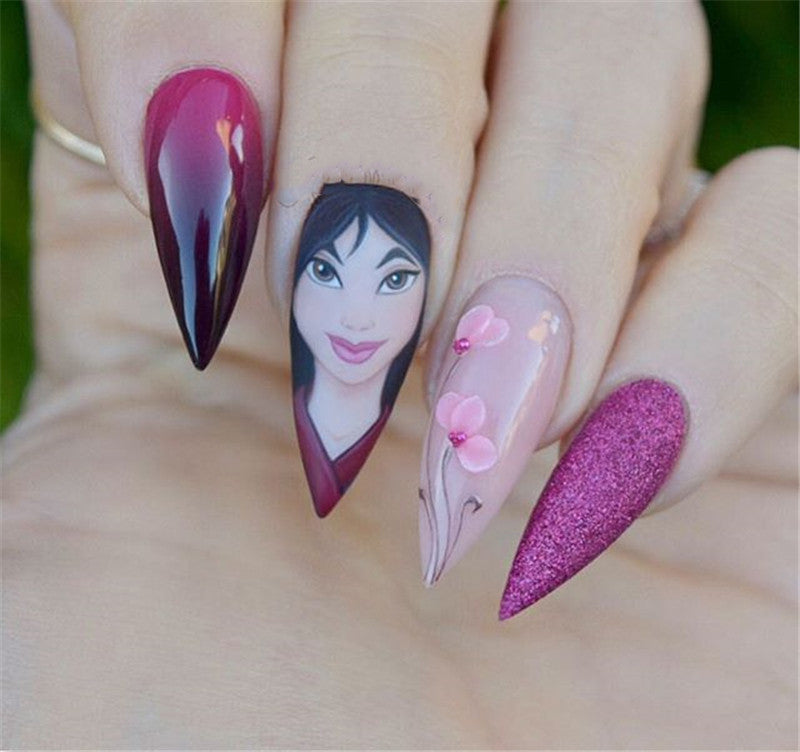 Disney Stiletto Nails; Cute Stiletto Nails; Stiletto Coffin Nails; Easy Stiletto Nails; Stiletto Nails Designs; Nails Acrylic