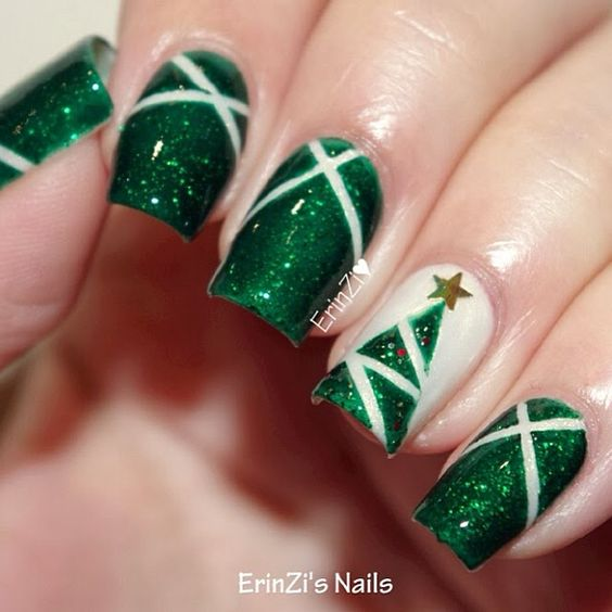 Christmas Nails Green And Red: 55+ Popular Ideas Of Christmas Nails Designs To Try In