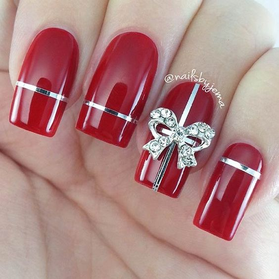 Christmas Nails Designs Coffin: 55+ Popular Ideas Of Christmas Nails Designs To Try In