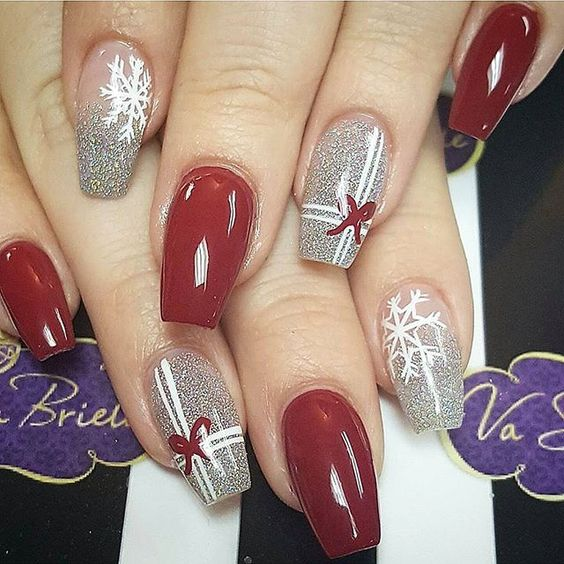 55 popular ideas of christmas nails designs to try in. Black Bedroom Furniture Sets. Home Design Ideas