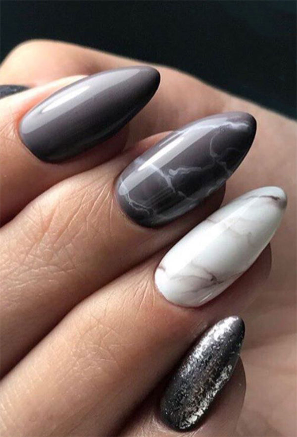 10+ Almond Marble Nails designs;Marble Nails;Almond Nails;Nails Trend;Nails Art;Nails design;Nails Art;Nails acrylic;Nails winter;