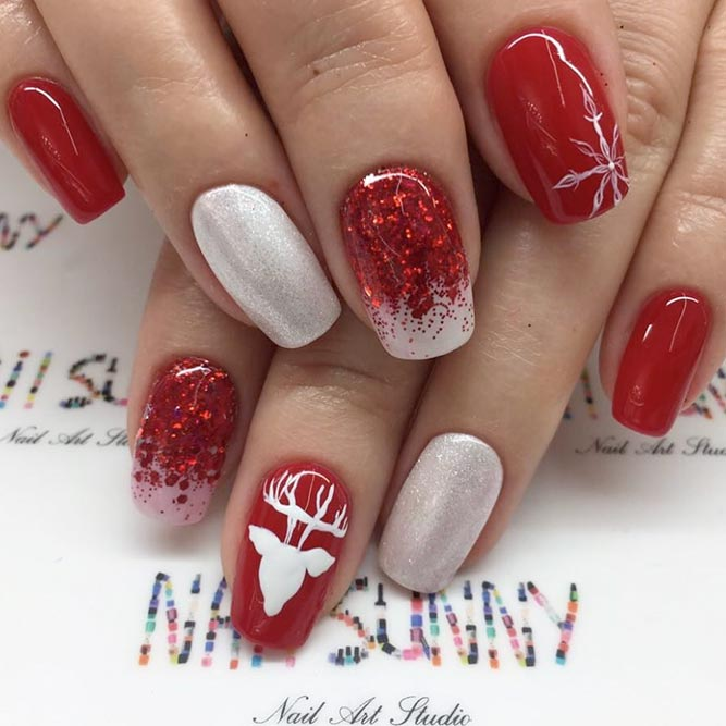 Red Ombre Nails Christmas.55 Popular Ideas Of Christmas Nails Designs To Try In 2020