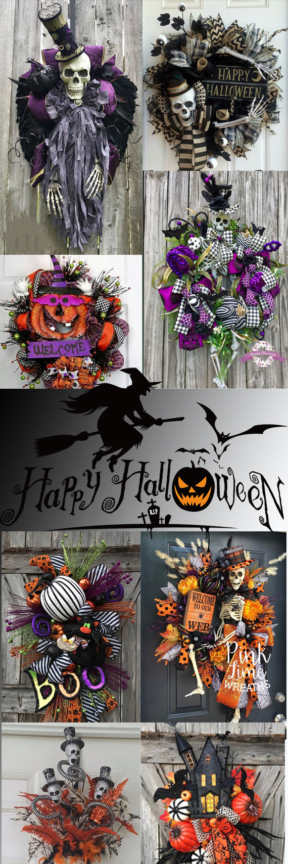 Halloween; Halloween Tree; Halloween Decorations; Halloween Decor;  Spiders; Skulls;  Pumpkins Polka Dots;  Witches; Skeletons; Halloween Time; Dracula; Witches Hats; Spooktacula; Halloween collector;