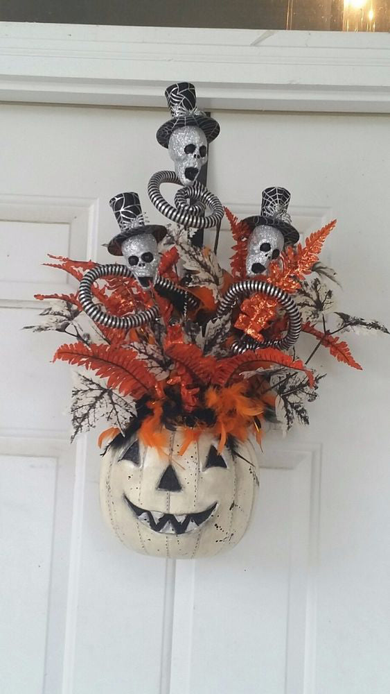 100+ Halloween Decoration Designs; Halloween; Halloween Tree; Halloween Decorations; Halloween Decor;  Spiders; Skulls;  Pumpkins Polka Dots;  Witches; Skeletons; Halloween Time; Dracula; Witches Hats; Spooktacula; Halloween collector;