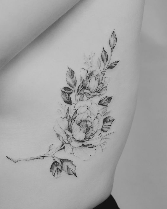 Rib Cage Flower Tattoo: 45+ Charming And Irresistible Rib Tattoos Designs