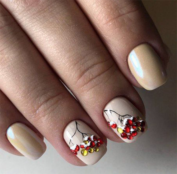 Amazing  Winter Snowy Nails Art Design; Christmas nails; winter nails; Snow nails; White nails