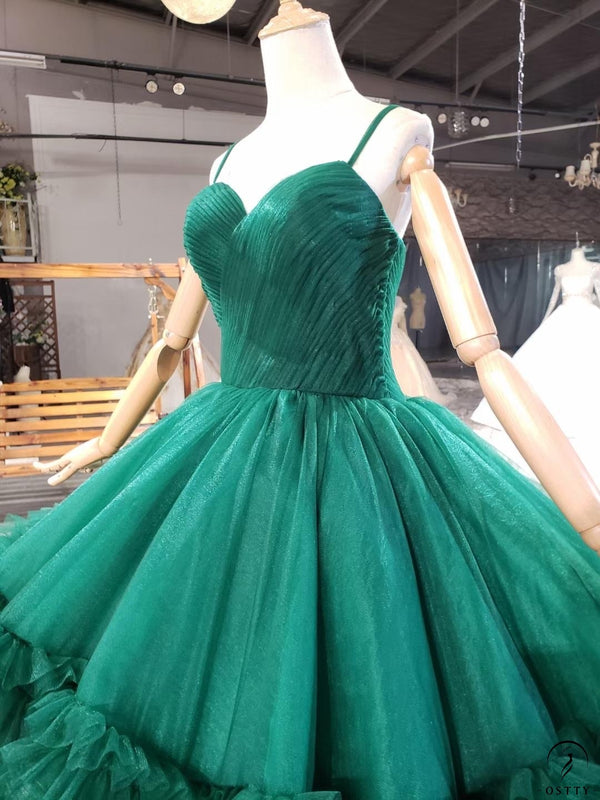 Green Quinceanera Dresses Luxury Lace Up Dresses OS0034 - $499.99