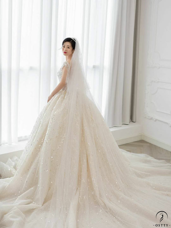 Ostty Matched Wedding Dress Veils Customized