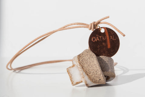 Oatmeal Ceramics Union Knot Necklace
