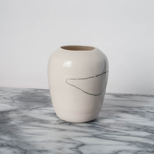 Porcelain Vase with Continuous Line
