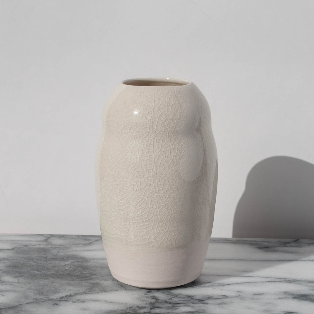 Porcelain Vase with Crackled Glaze