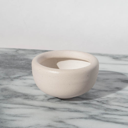 Speckled Porcelain Roll-Top Mini Bowl