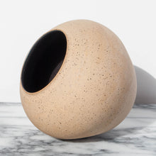 Speckled Tan Wide Vessel