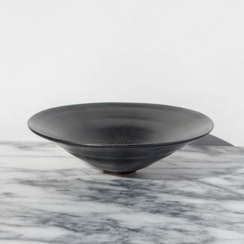 Paper-Thin Matte Black Wide Bowl