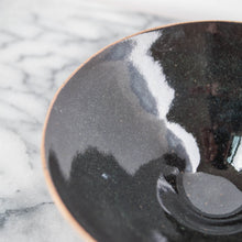 Shallow Dish with Black Gloss