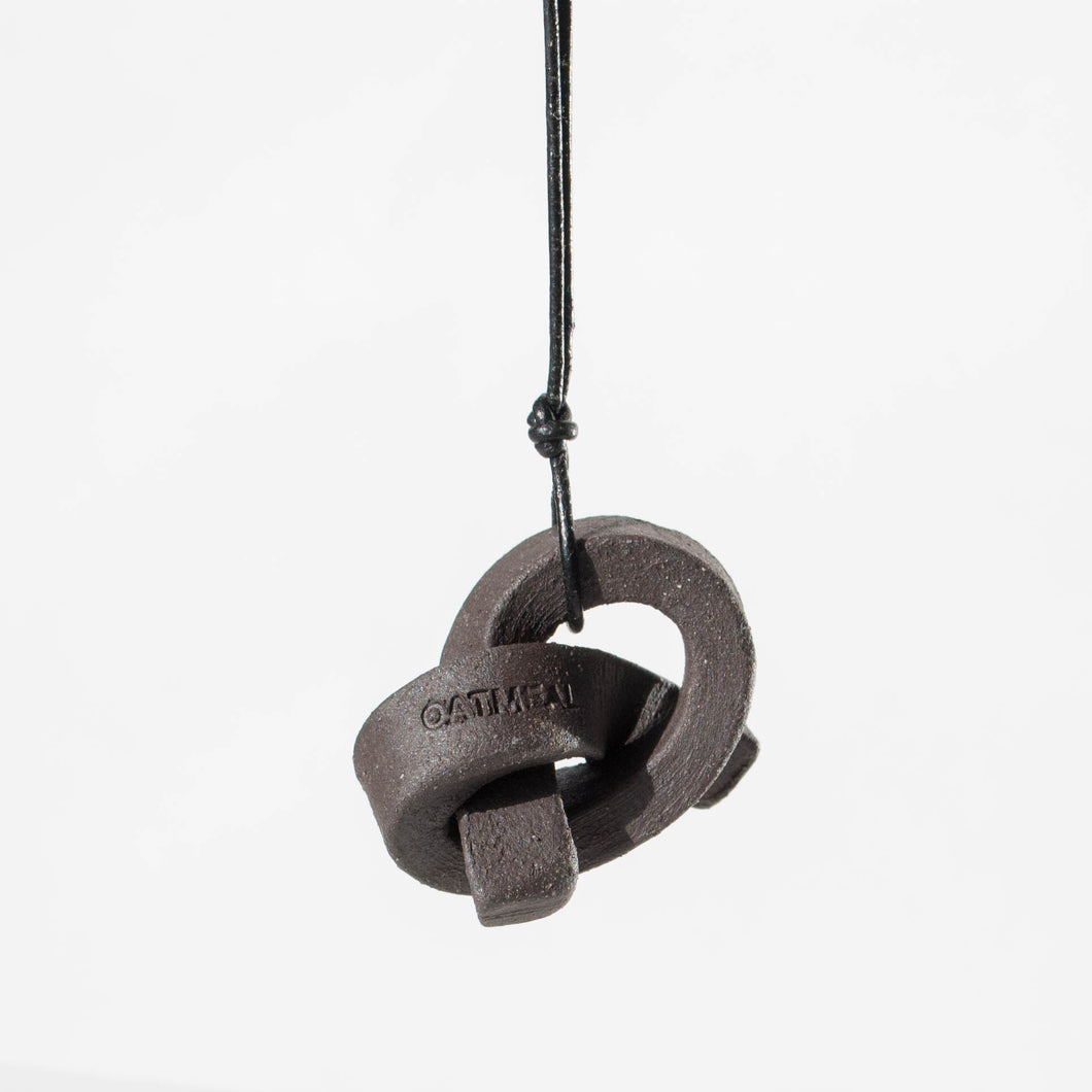 Mini Union Knot Necklace - Black