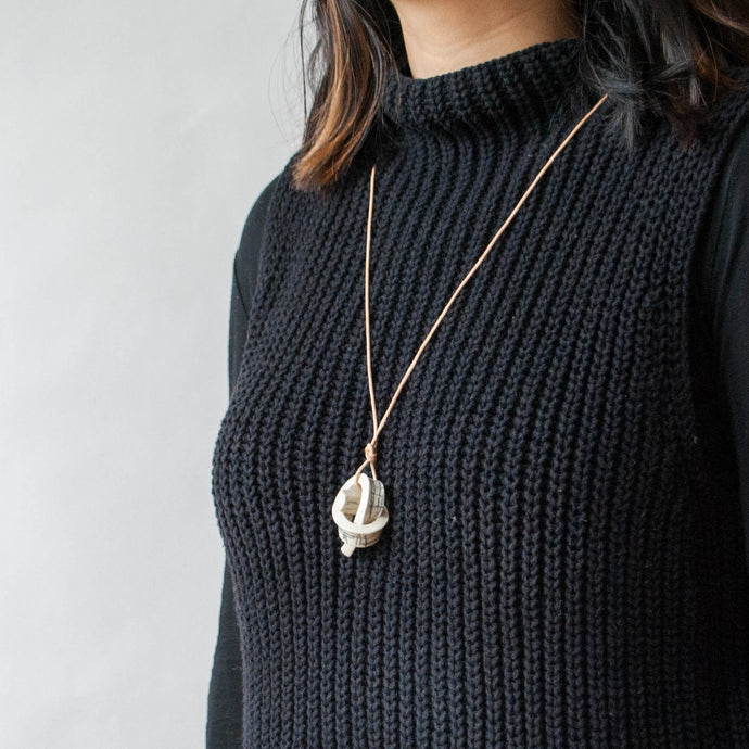 Mini Union Knot Necklace - Blueprint