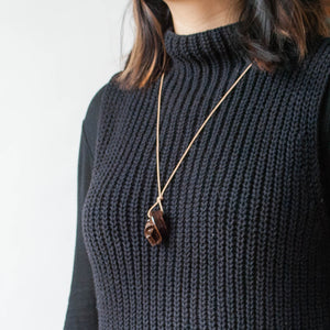 Mini Union Knot Necklace - Havana