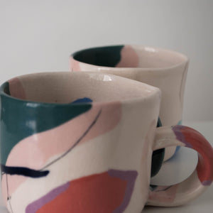 Color Blocks Cups - Set of Two