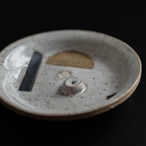 White w/Neutrals Incense Holder Catchall
