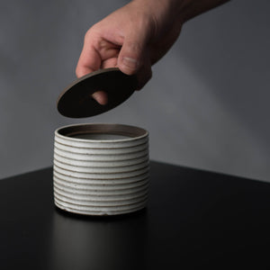 Medium Ribbed Catch-All Jar