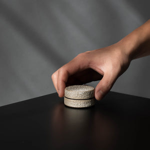 Small Textured Ring Jar