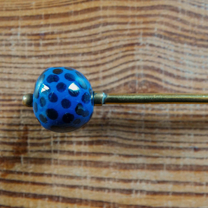 Long Spoon with Kazuri Blue Ting Ting Bead