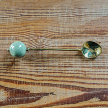 Long Spoon with Kazuri Green Ting Ting Bead