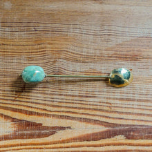 Long Spoon with Kazuri Green Kikapu Bead