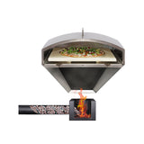 green mountain grills pizza oven attachment set-up with firebox