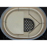 Ceramic Grill Store Deflector Stone set in 400 XL Primo Oval Grill