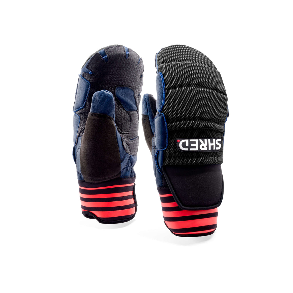 Ski Race Protective Mittens Navy/Rust - Protective Gloves|BPRDMJ11L,BPRDMJ11M,BPRDMJ11S,BPRDMJ11XL,BPRDMJ11XS,