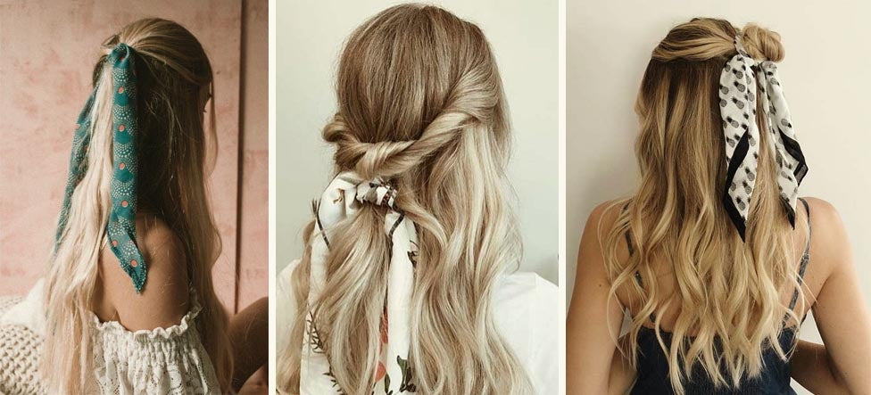 namjosh scarf plait and pony hairstyle