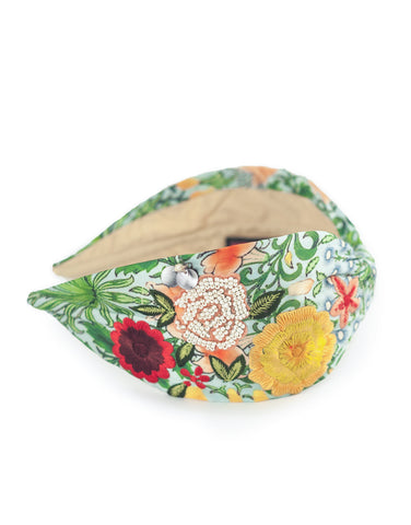 Embroidered Floral Headband
