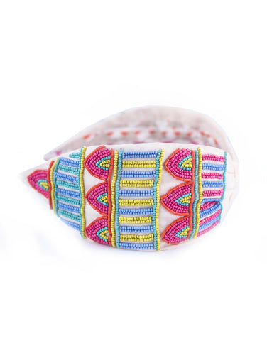 Aztec Beaded Headband
