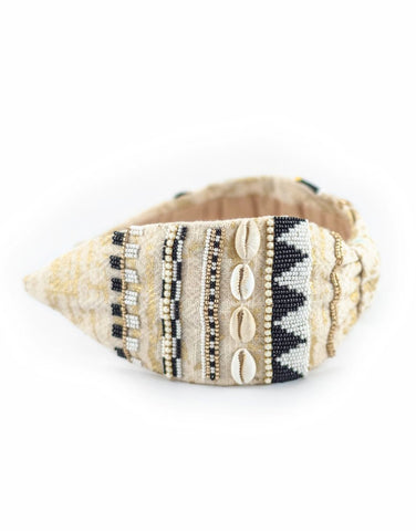 Cowrie Gold Headband