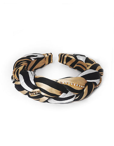 Zebra Braided Headband