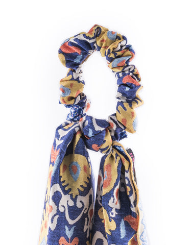 Ikat Scarf Ponytail Holder